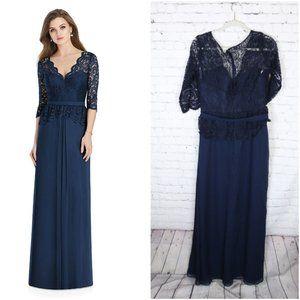 JENNY PACKHAM BRIDESMAID Navy Lace Dress 14